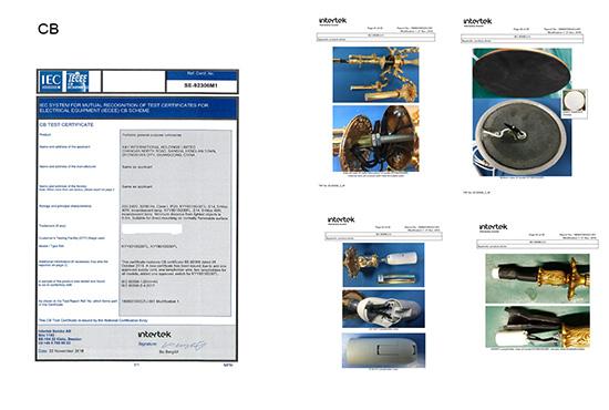 K&Y Portable Luminaire CB certification