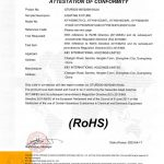 K&Y RoHS Certification