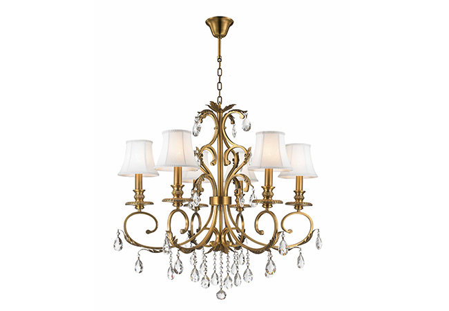 Contemporary Crystal Chandelier-KYY7002BG-6L-S