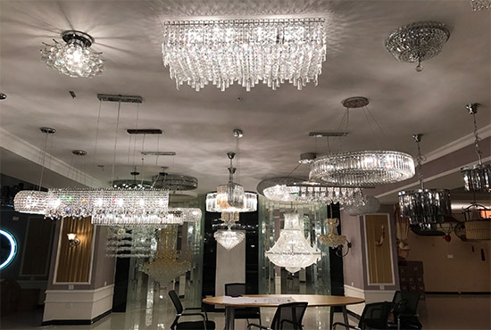 chandeliers showroom