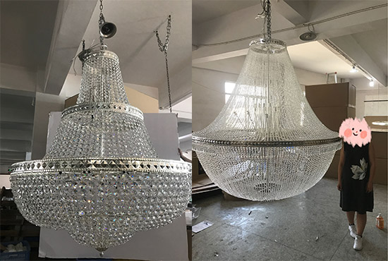 Custom Chandeliers for Wedding Party