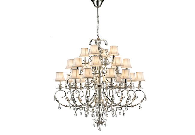 Custom lighting-Large Modern Chandelier-KYY7002AS-24L-S