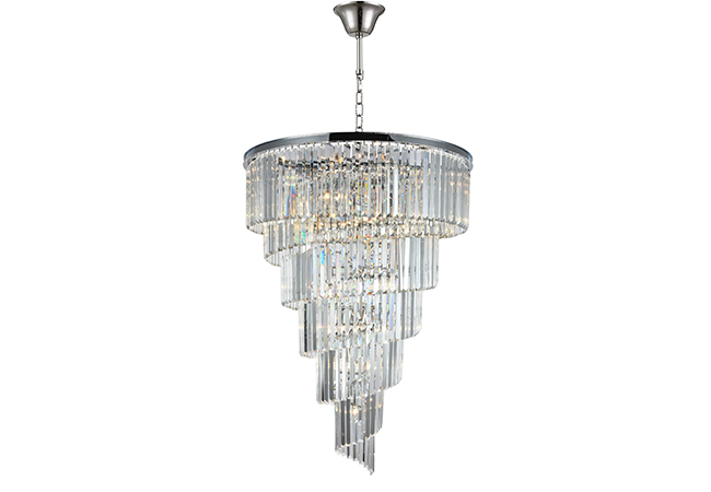 Custom Lighting – Large crystal Chandelier for Staircase-KYY3306C