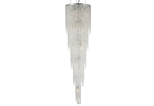 Custom Lighting-Contemporary Long crystal strings for Staircase-KYY3960