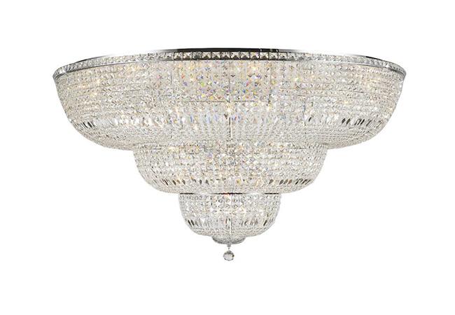 Crystal Custom Lighting-Large Flush Mount Chandelier-KYY3962