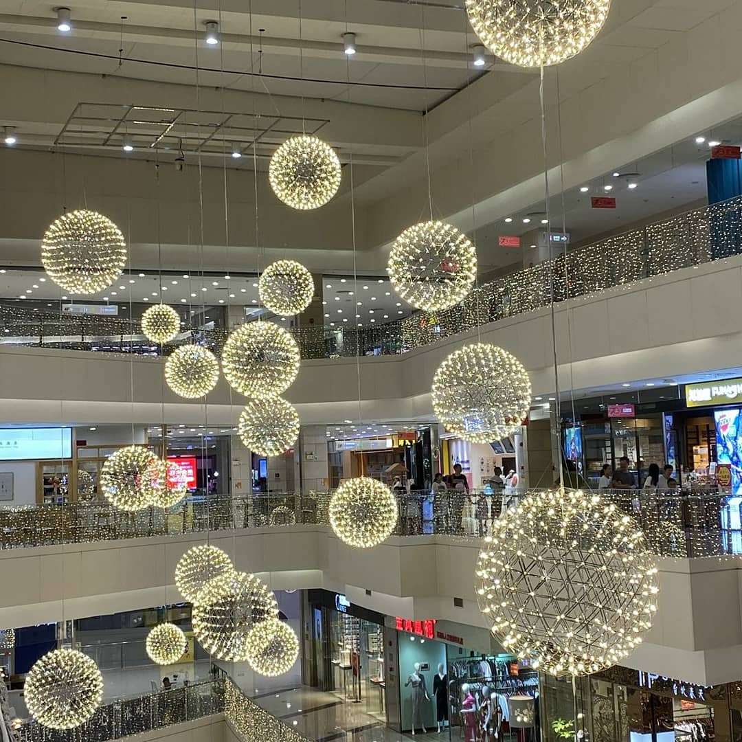 Custom Lighting for shopping mall