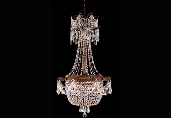 Empire Wrought Iron Chandelier- KY Y1078