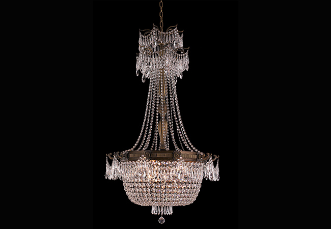 Empire Wrought Iron Chandelier- KY Y1079