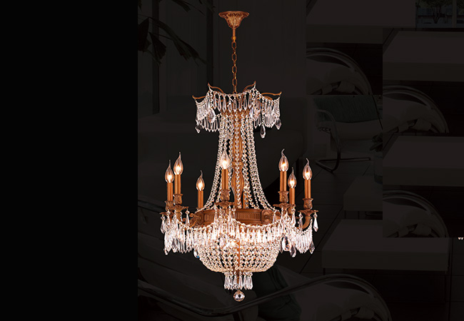Classical Wrought Iron Chandelier- KY Y1081FG