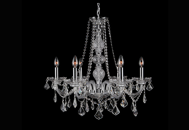 Elegant Glass Chandeliers- KY Y4008C60-CL