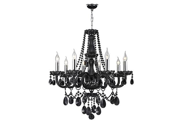 Elegant Black Glass Chandeliers- KY Y4013-BL
