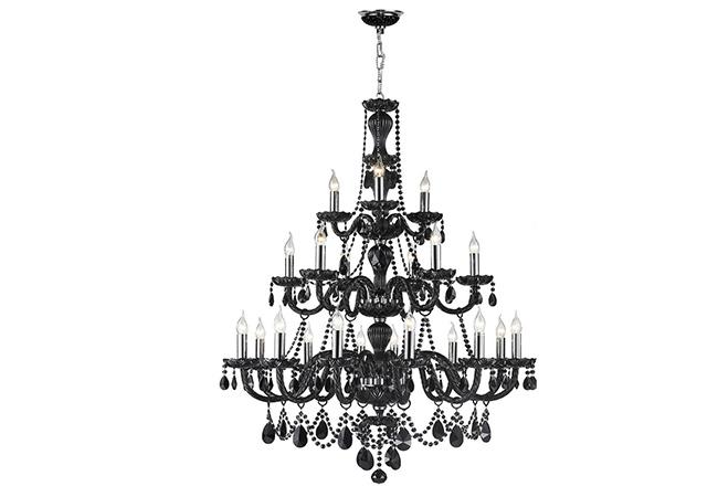 Elegant Black Glass Chandeliers- KY Y4016-BL
