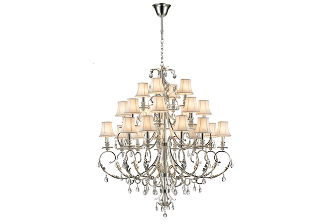 Custom Wrought Iron Chandelier-KYY7002AS-24L-S