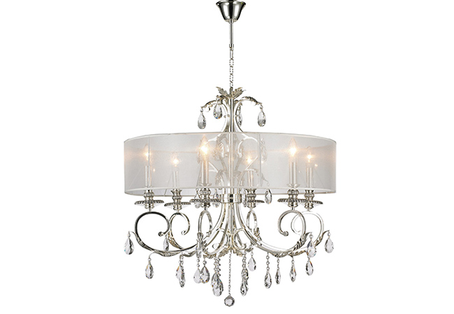 Modern Wrought Iron Chandelier- KY Y7002C-6L-WS