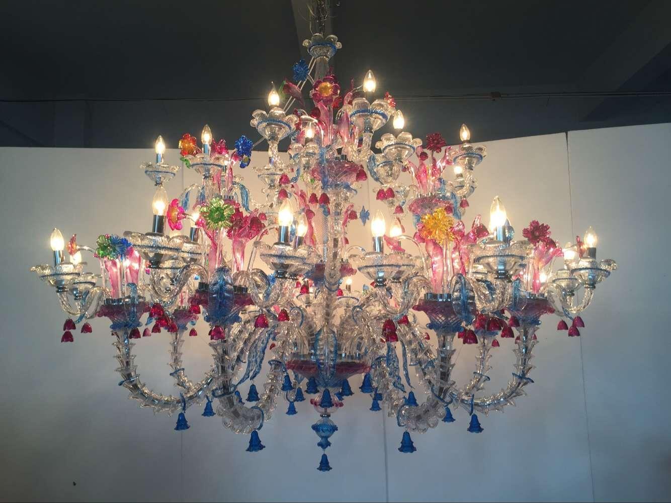 custom glass chandelier