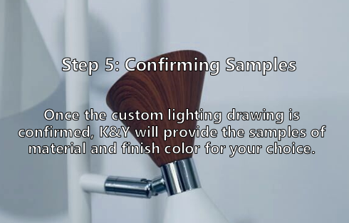 Confirming custom lighting samples
