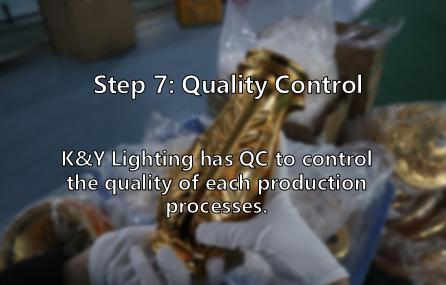 Control custom lighting quality