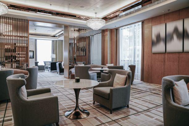Custom Lighting for Hotel Reception Area