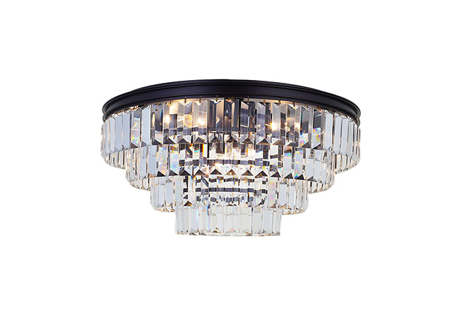 Black Crystal Ceiling Lamp - KY Y3306