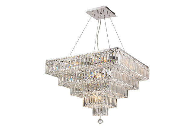 Square Crystal Pendant Light- KY Y3321C66