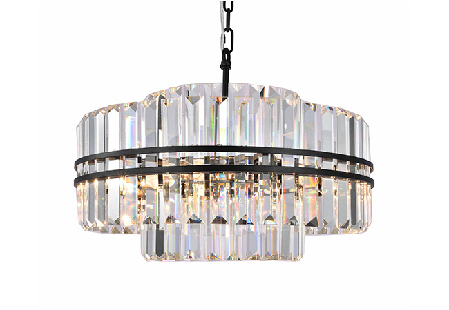 Black and Crystal Pendant Light - KY Y3950B56