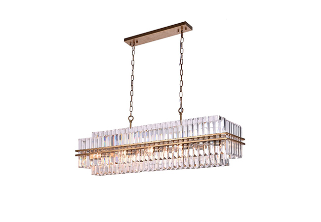 Gold Crystal Pendant Light - KY Y3951G90