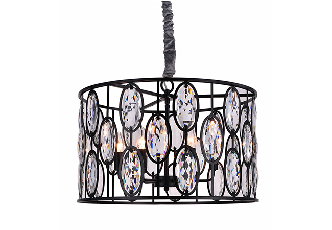 Black and Crystal Pendant Light - KY Y3973B