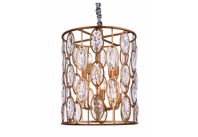 Gold Crystal Pendant Light - KY Y3974G