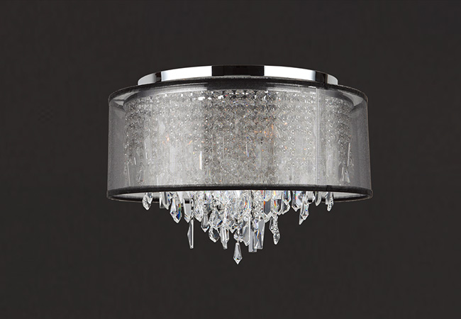 Modern Crystal Ceiling Lighting - KY Y6087C40-BSO
