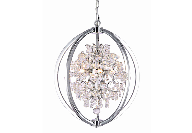 Hand-craft Wrought Iron Crystal Pendant Lamp-KYY6211