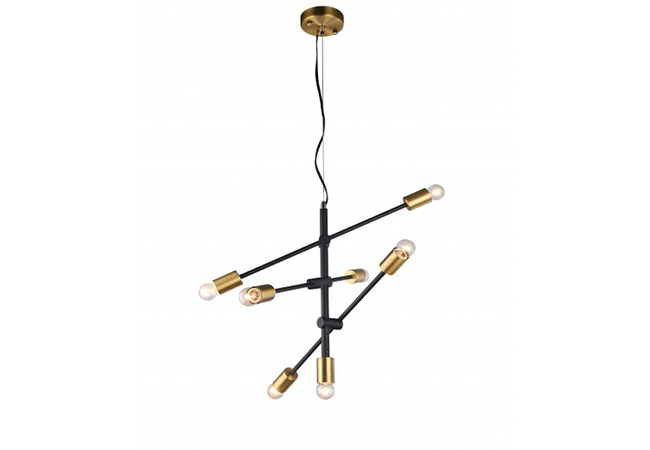 Black and Gold Modern Pendant Lamp - KY Y8806-7L