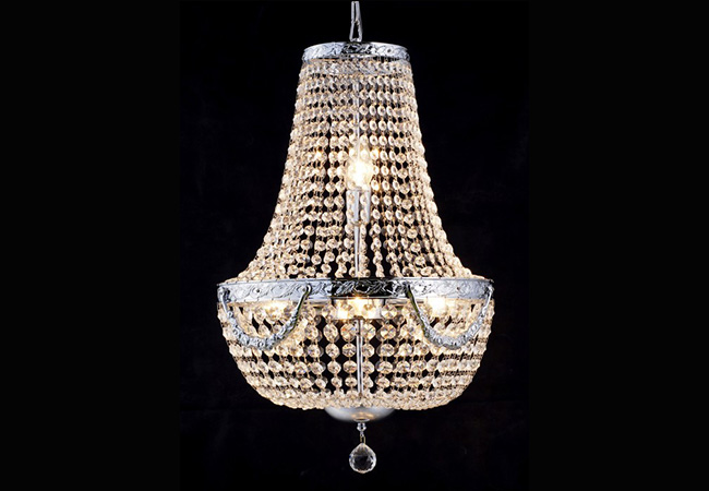 Antique Pendant Light with Crystal - KY0903
