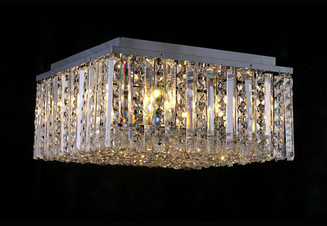 Flush Mount Crystal Ceiling Light - KY4515