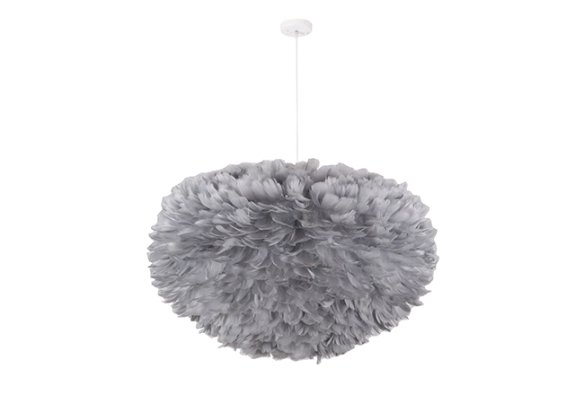 Grey Feather Pendant Light - KYF9903-G-D600MM