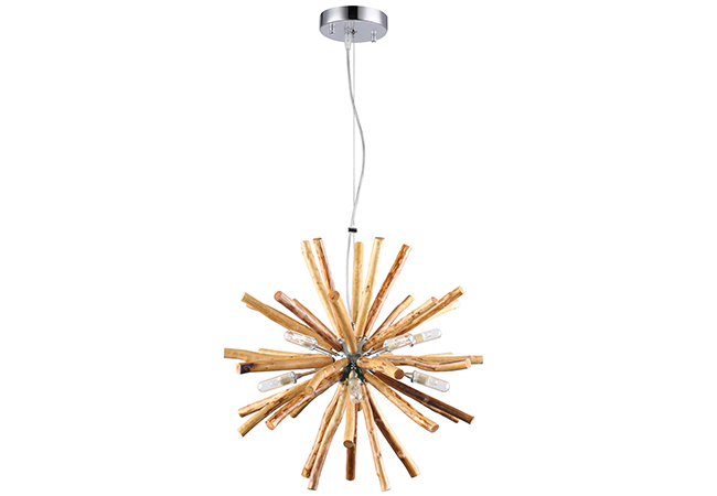 Metal and Wood Pendant Light - KYW9230