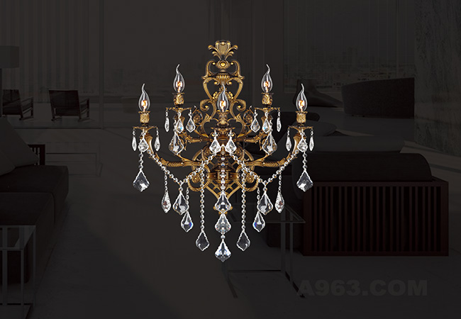 Antique Crystal Wall Sconces - KY Y1005B48