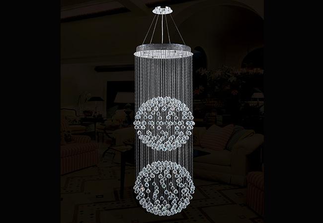 Custom Lighting- Modern Crystal Pendant Light - KY Y2009C60