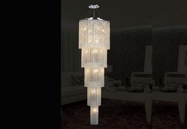 Custom Lighting-Round Crystal Pendant Light-KY Y3195C40