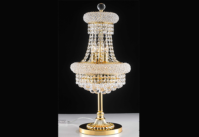 Gold Crystal Table Lamp-KY Y8009G30TL