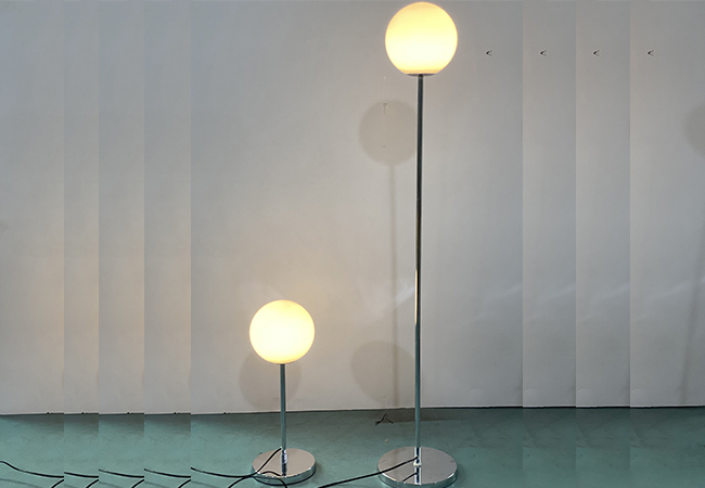 Silver Modern Floor Lamp - KY Y8035FL