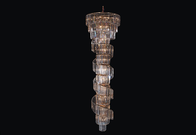 Long Staircase Chandelier