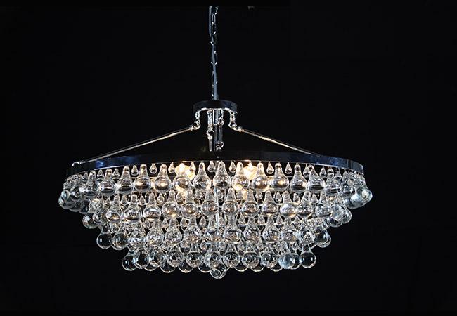 Round Crystal Pendant Light
