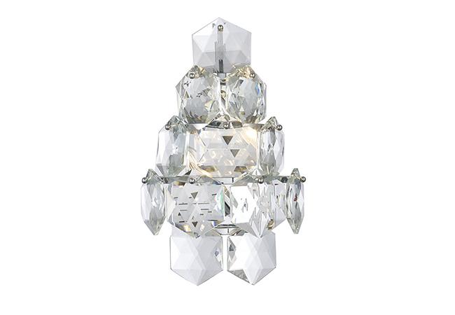 Crystal Wall Lamp-KY Y6634-W-D25xH40cm