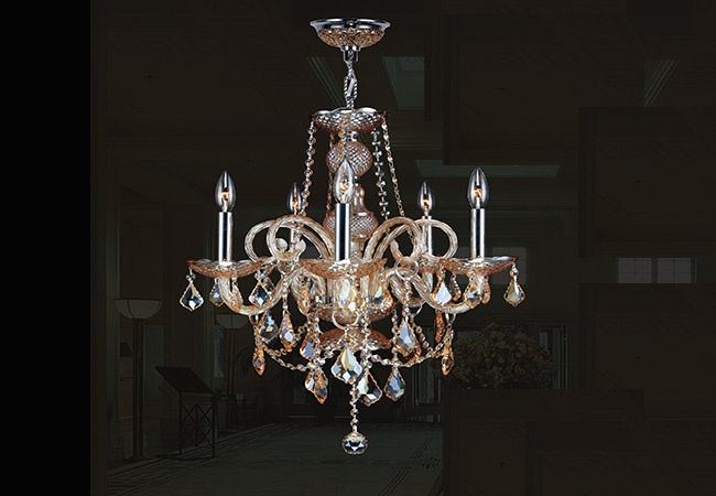 Glass Chandelier- Dining Room Chandelier- KY Y4005
