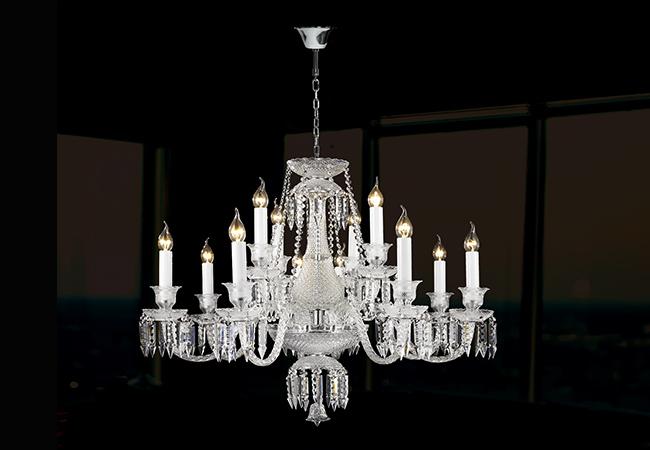 Glass Chandelier- Wedding Chandelier- KY Y4043