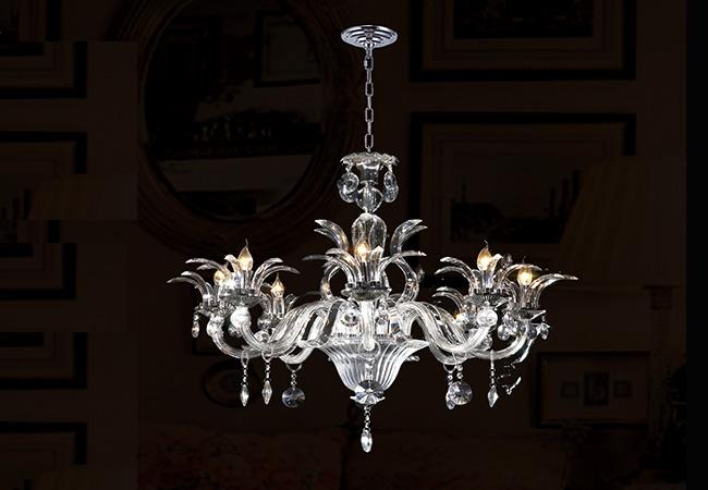 Glass Chandelier-Antique Chandelier- KY Y4056C100-CL