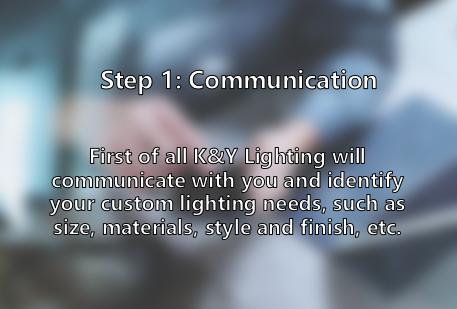 Communicate custom lighting idea