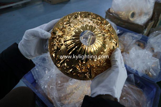 Quality control of custom chandelier