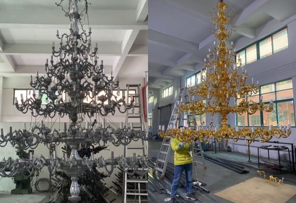 Trial Installation for Chandelier
