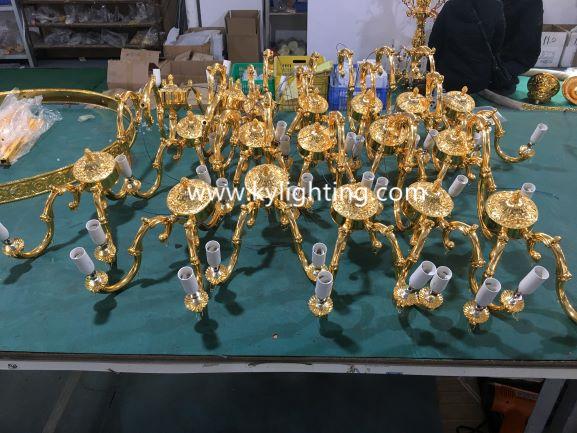 Custom chandelier arms